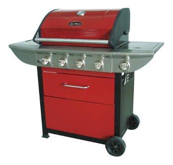 Outback Meteor 4 Burner Barbecue including Regulator