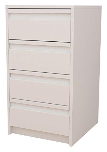 Meka-Block-K-7400B-Schubladenschrank-Kit-4-Schubladen-40-cm-breit-Farbe-wei
