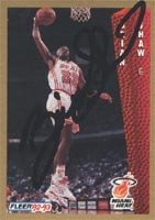 Brian Shaw Miami Heat 1992 Fleer Autographed Hand Signed Trading Card. by Hall+of+Fame+Memorabilia