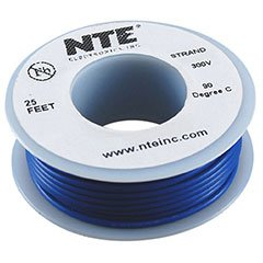 NTE Stranded 26 AWG Hook-Up Wire Blue 25 ft.