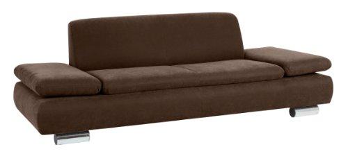 Max Winzer 287130002051701 Sofa Tournai 2.5-Sitzer samtiges Flachgewebe, braun