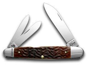 Case Xx Chestnut Jigged Bone Cigar Whittler Pocket Knife Knives