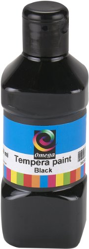 Omega Tempera Paint, 250ml, Black