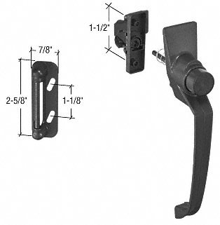"""C.R. Laurence K5082 Crl Black Storm And Screen Door Push Button Latch With 1-1/2"""" Screw Holes front-548384"""