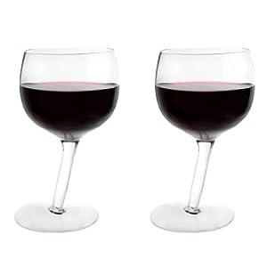 Vinology Tipsy Wine Glasses, Pack of 2