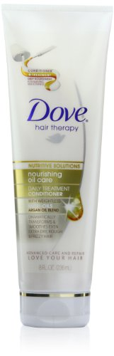Dove Nutritive Therapy, Nourishing Oil Care Daily Treatment Conditioner, 8 Ounce (Pack Of 2)