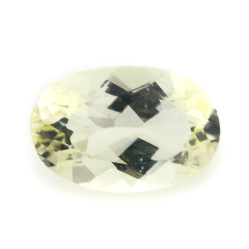 Natural Yellow Beryl Loose Gemstone Oval Cut 1.15cts 8*5mm VS Grade Gem