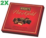 Hersheys Pot of Gold Assorted Milk and Dark Chocolate Premium Collection, 10-Ounce Boxes (Pack of 2)