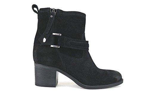 JULIE DEE stivaletti donna nero camoscio AJ568 (36,5 EU)