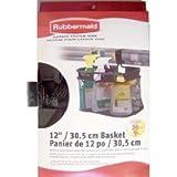 Rubbermaid Storage Basket for Garage Organizer - Black