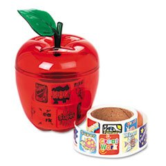 * Stickers in Plastic Apple, Reward, 600 Stickers/Pack