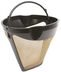 BESTSELLER UK #1 GOLD TONE REUSABLE #4-UGSF4 10-12 CUP COFFEE FILTER WITH HANDLE BEST BUY PRICE REVIEW UK
