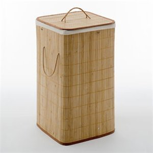 Nameeks BA38-35 Bamboo Laundry Bag Bathroom Accessory Set