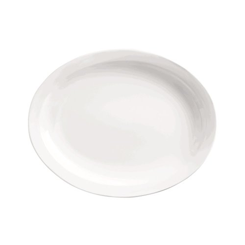 World Tableware 840-520N-17 Porcelana Nr Oval Platter - 12 / Cs