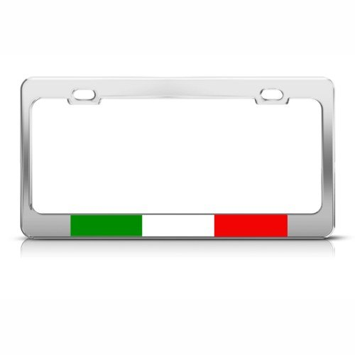 Italian Flag Italy Country Metal License Plate Frame Tag Holder (Frames Italian compare prices)