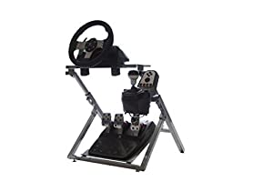 GTR GS Model Steering Wheel Stand - Racing Simulator Cockpit gaming stand with steering wheel, pedal, and shifter holder by GTR Simulator