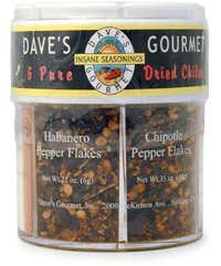 Daves Gourmet Six Pure Chiles Gift Shaker by Daves Gourmet