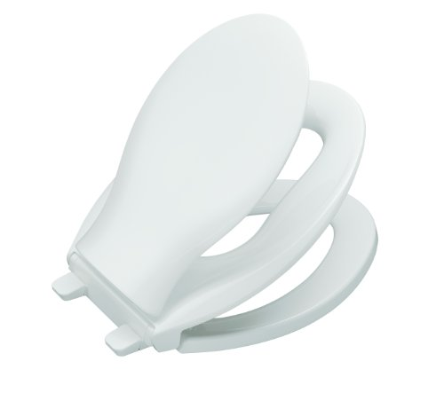 KOHLER K-4732-0 Transitions Quiet-Close Toilet Seat, White