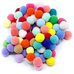 DIY Mini Crafts Mixed Colourful Fluffy Pom Ball Felt Decoration 100pcs