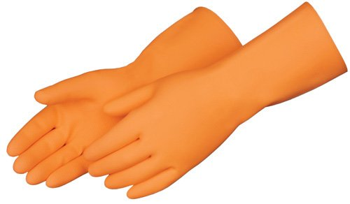 Liberty 2876SP Latex Heavyweight Liquid Proof Unsupported Glove with Flock Lined, Chemical Resistant, 28 mil Thickness, 13