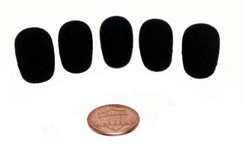 Tetra-Teknica Mnws5P Mini-Size Lapel Microphone Windscreen, Color Black, 5-Pack