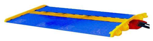 Cross-Guard CPRL-5-Y Polyurethane ADA Compliant Rail for Linebacker 5 Channel Heavy Duty Cable Protectors, Yellow