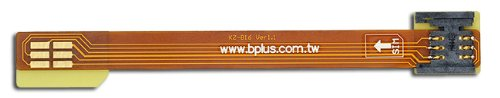 Bplus B1612A: Standard Sim To Standard Sim Fpc Adapter , Sim Inside Notch , Total Length 12Cm