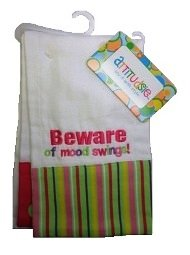 Attitudsie Baby Girl Cotton Burp Cloths With Funny Quotes, Includes 2 Clothes