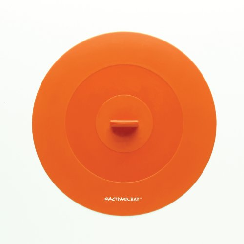 Rachael Ray Tools and Gadgets Top-This Suction Lid, 9-1/4-Inch, Medium, Orange