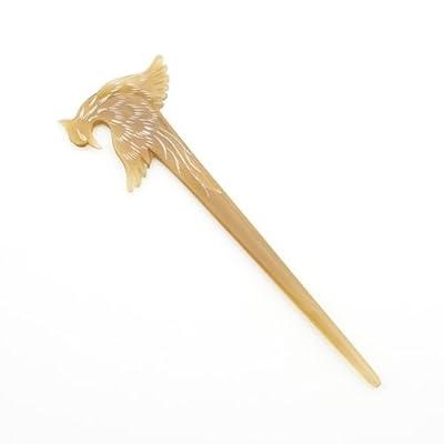 White Phoenix Horn Hairpin