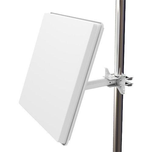 Selfsat H50D4 Parabole Antenne plate 4 sorties Blanc