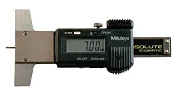 "Mitutoyo Series 571, 700 Tire Tread LCD Depth Gauges, Inch/Metric, 0-1""/0-25.4mm Range"