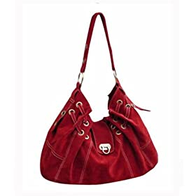 Suede Feel Swiss Handbag - Free Shipping