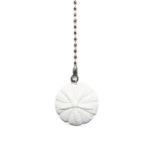 White Resin Sand Dollar Fan Pull (Fan Pulls Decorative Nautical compare prices)