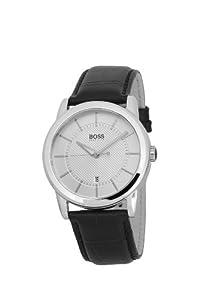 Hugo Boss - 1512625 - Montre Homme - Quartz Analogique - Cadran - Bracelet Cuir Noir
