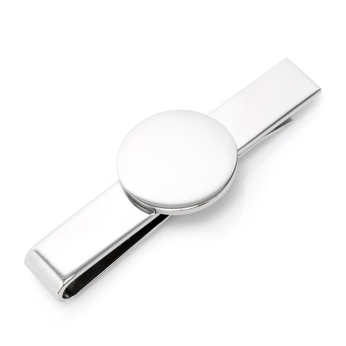 Stainless Steel Round Infinity Engravable Tie Bar