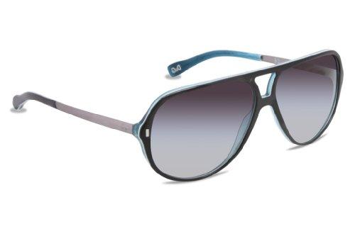 D&G Dd3065 Sunglasses-1870/8G Black White Turquoise (Gray Gradient Lens)-60Mm