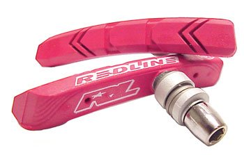 Redline Flight Brake Shoes, Threaded 1 Pair Threaded Red
