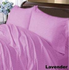 Italian Luxury 800 Tc 3Pc Duvet Cover Set Lavender Stripe Choose Size Sale-146