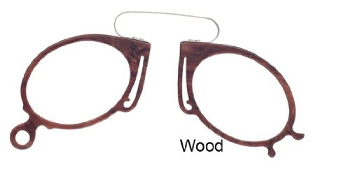 Melissa Eyewear Pince Nez Retro Reading Glasses in Wood - Strength +1.25 images