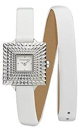 BCBG Leather White Dial Women's Watch #BG6384