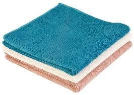 Norwex Antibacterical, Antimicrobial, Microfiber Bath & Hand Towels (Vintage Trio, 3 Wash Cloths) Bath Trio