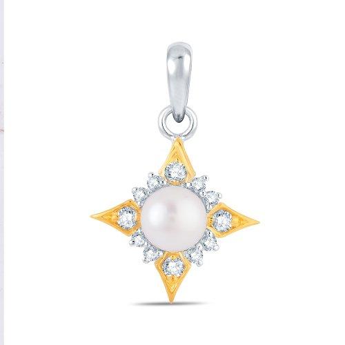 Jashn The Teasel Pendant In Sterling Silver With Swarovski Diamond # JNPSC028