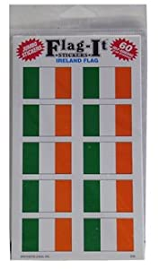 "Irish Flag Stickers 1.5"" X 1"" Pack 60 Stickers"