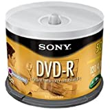 Sony 50DMR47RS4 16x DVD-R Discs 50 Disc Spindle (Discontinued by Manufacturer)