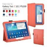 Elsse (TM) Premium Folio Case with Stand for Tablets (Galaxy Tab 3 - 10.1 Orange)