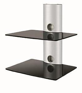 Duronic ds102bs meuble mural en verre couleur noire deux for Meuble mural amazon