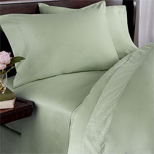 1000-Thread-Count Egyptian Cotton 4Pc 1000Tc Bed Sheet Set, Queen, Sage Solid 1000 Tc front-1010721