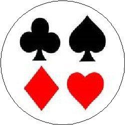 "Amazon.com: PLAYING CARD SYMBOLS 1.25"" Magnet ~ Cards Deck ..."