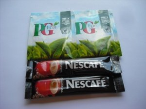 50 Individual Nescafe Original Sachets & 50 PG Tips Individual Envelope Tea Bags